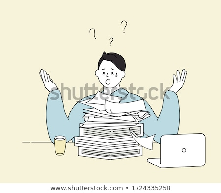 Troubled Man Cartoon Drawing Stock photo © sdCrea