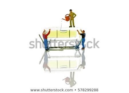 keeping balance with plumb rule Stock photo © compuinfoto