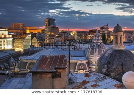 Bucharest Praliament at twilight, Romania Stock photo © joyr