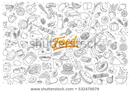 Hand drawn food doodles Stock photo © 5xinc