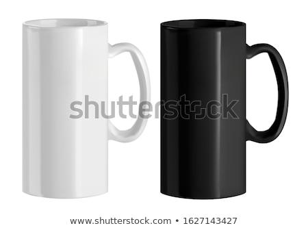 Magas porcelán csésze csészealj tiszta edény Stock fotó © Digifoodstock