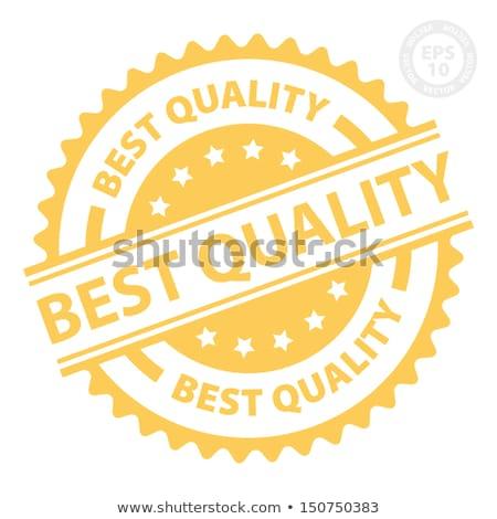 Garantir meilleur qualité tampon face sceau Photo stock © SArts