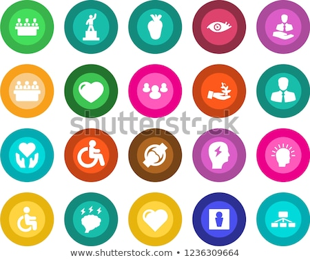 abstract colorful joint anatomy icons set stock photo © tefi