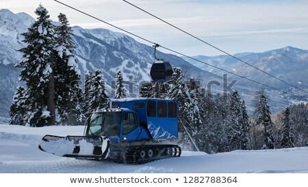 Neige préparation véhicules ski Resort Andorre Photo stock © dawesign