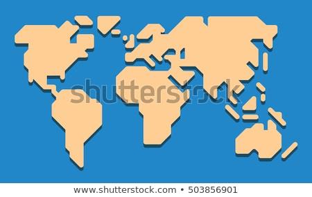 pictogramme · carte · du · monde · eps · carte · monde · terre - photo stock © sdCrea