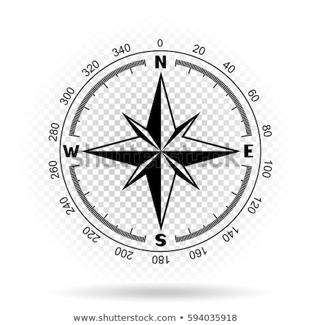 compass directions transparent background Stock photo © romvo