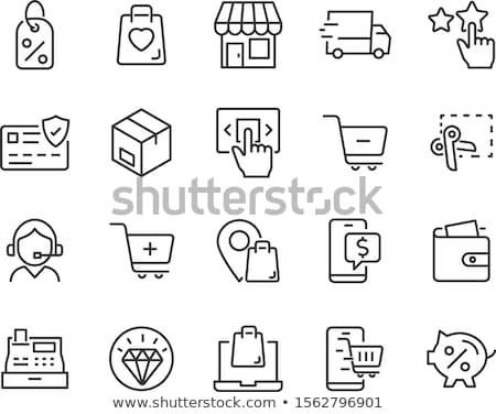 Online bolt ikonok vektor ikon szett terv otthon Stock fotó © oblachko