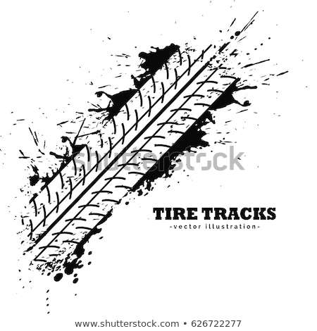 Reifen Länge Eindruck weiß Auto Straße Stock foto © SArts