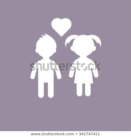 boy or girl concept illustration stock photo © alexmillos