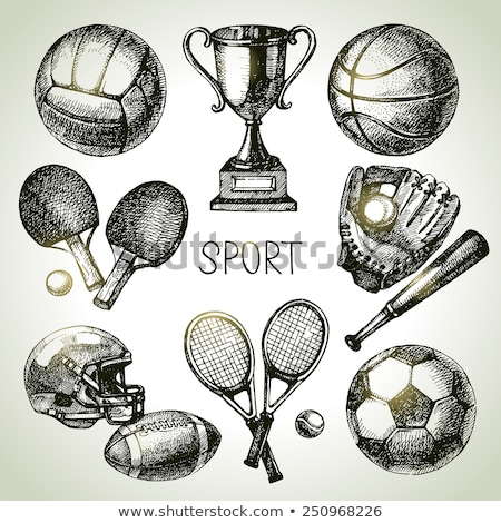 Retro Rugby Ball Collection  Stock photo © albund
