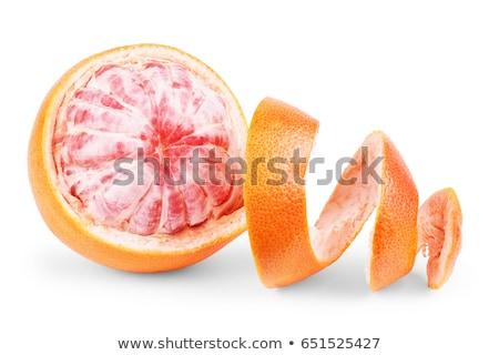 mooie · vrouw · half · grapefruit · gezicht · vrouwen - stockfoto © fisher