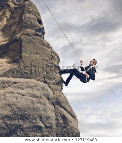 homme · d'affaires · escalade · succès · escalier · illustration · 3D - photo stock © rastudio