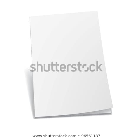 Wektora magazyn otwarte biały papieru Zdjęcia stock © Mediaseller