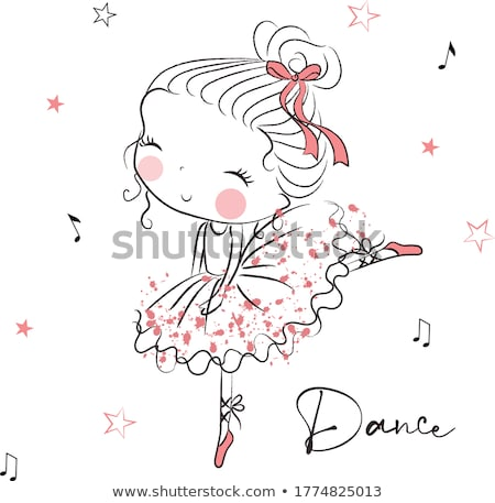 tam · uzunlukta · portre · komik · kız · elbise · poz - stok fotoğraf © monkey_business