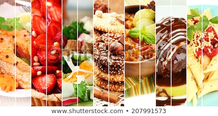 Buffet alimentaire collations fond tomate bord Photo stock © M-studio