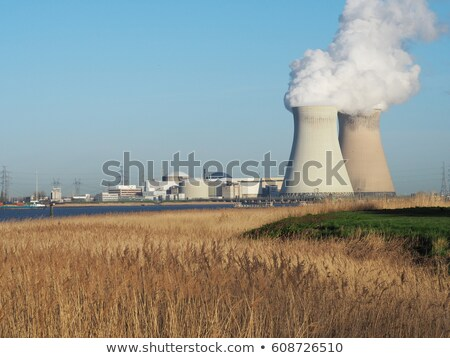 cooling towers of a nuclear powerplant Stock photo © Shevs