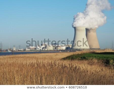koeling · energiecentrale · wolken · landschap · technologie - stockfoto © shevs