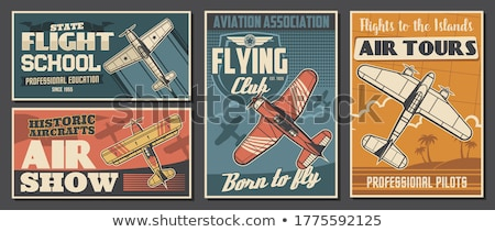 Airplane with poster Stock photo © Andrei_