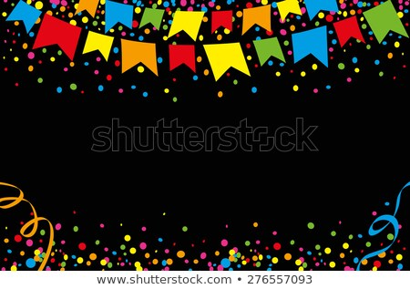 festa junina celebration background with confetti Stock photo © SArts