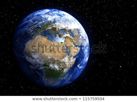 Toprak uzay Afrika ayrıntılı görmek Stok fotoğraf © timh