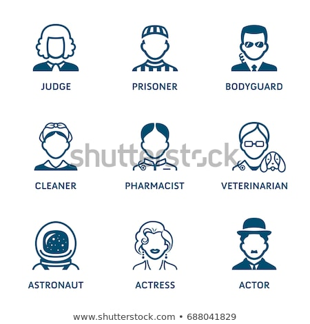 profession icons set iii stock photo © sahua