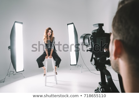 photographers shooting model stock photo © 5xinc