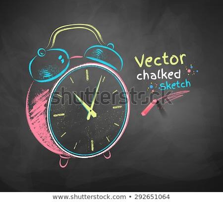 締め切り いたずら書き 実例 青 黒板 ビジネス ストックフォト © tashatuvango