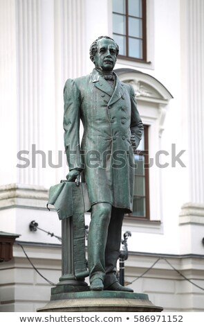 Statue of Nils Ericson in front of Stockholm Central Station and Stock photo © vladacanon