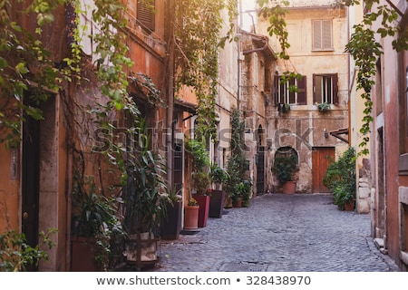Lege straat weg gebouw stad muur Stockfoto © ankarb