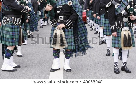 St. Patricks Day. Man musician and bagpipes Stock photo © orensila