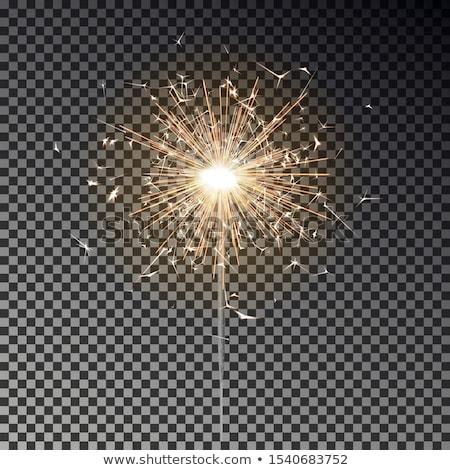 Csillog bot fények karácsonyfa fa jókedv Stock fotó © elly_l