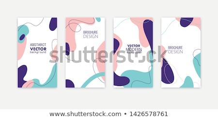 dizayn · çiçek · pembe · vektör · afiş - stok fotoğraf © elensha