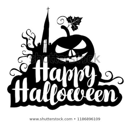 feliz · halloween · assinar · esqueleto · outono · seis - foto stock © krisdog