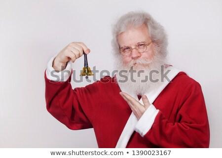 örömteli · mikulás · táska · karácsony · ajándékok · pop · art - stock fotó © studiostoks