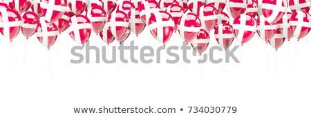 Ballonnen frame vlag Denemarken geïsoleerd witte Stockfoto © MikhailMishchenko