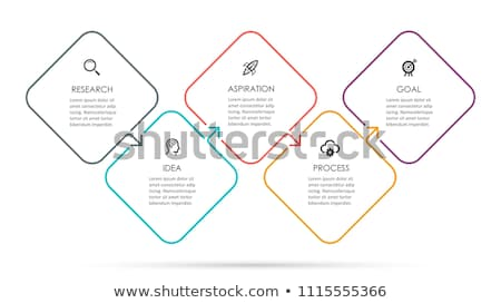 Vékony vonal ötlet infografika sablon körök Stock fotó © orson