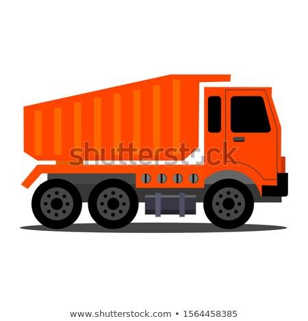 мусора · грузовика · талисман · иллюстрация · Cartoon · отходов - Сток-фото © krisdog