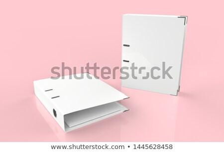 Emelő ív mappák izolált fehér iroda Stock fotó © kitch