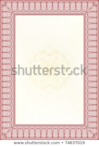 Golden And Red Classic Guilloche Border For Diploma Or Certifica Photo stock © Taiga