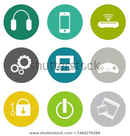 gadget and devices icon set Stock photo © Genestro