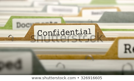 Card File with Confidential Data. Stock photo © tashatuvango