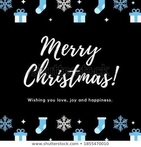 kívánság · vidám · karácsony · színes · szöveg · vektor - stock fotó © vector1st