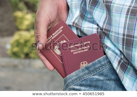 german passport with visa to the Russian Federation Stock photo © alexandre17