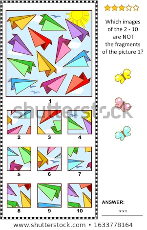 Inteiro 10 jogo crianças adultos Foto stock © Olena