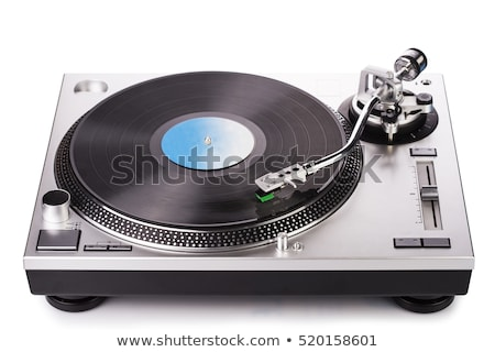 Foto stock: Retro Vinyl Player Isolated On White Background