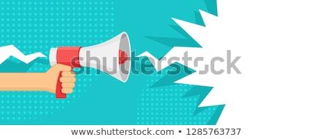 dymka · niebieski · krzyk · komunikacji · dyskusja - zdjęcia stock © krisdog