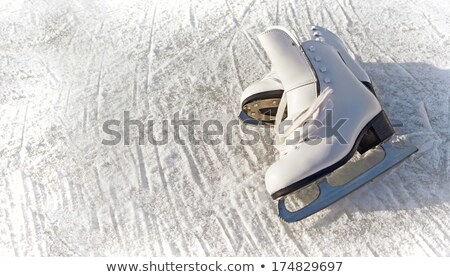 womens ice skates for figure skating, winter sports Stock photo © studiostoks