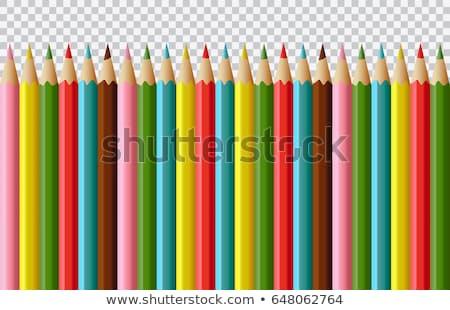 Kleurrijk realistisch potloden grens regenboog gekleurd Stockfoto © pakete