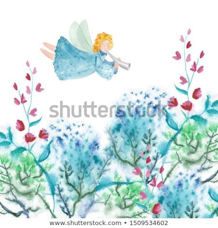 Little girl with a bouquet of flowers Stock photo © IS2