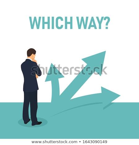 Iş karar verme seçim girişimcilik işadamı çizim Stok fotoğraf © stevanovicigor